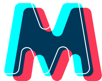 Multi-colored M logo for Misfit