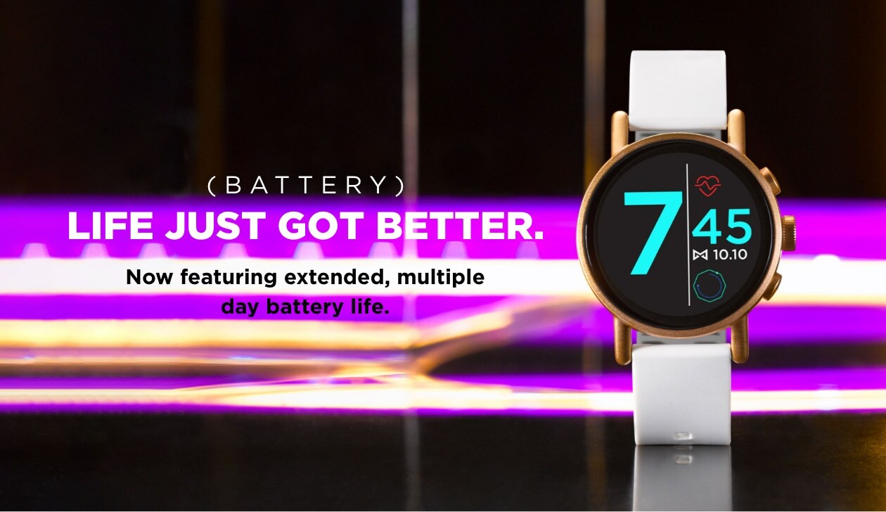 (BATTERY) LIFE JUST GOT BETTER. Now featuring extended, multiple day battery life.