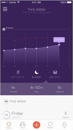 activity tracker screenshot