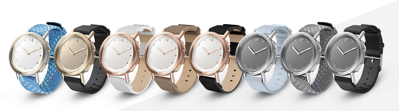 Misfit smartwatches with different bands.